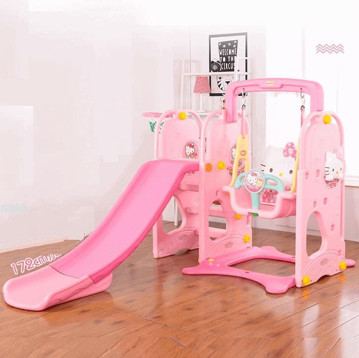 Bộ đồ chơi cao cấp cầu trượt xích đu cho trẻ từ 3 tuổi