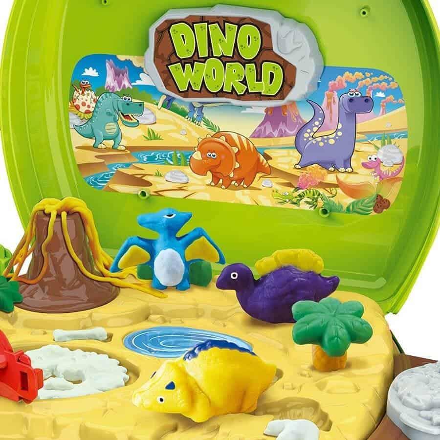 Đồ chơi vali đất nặn khủng long