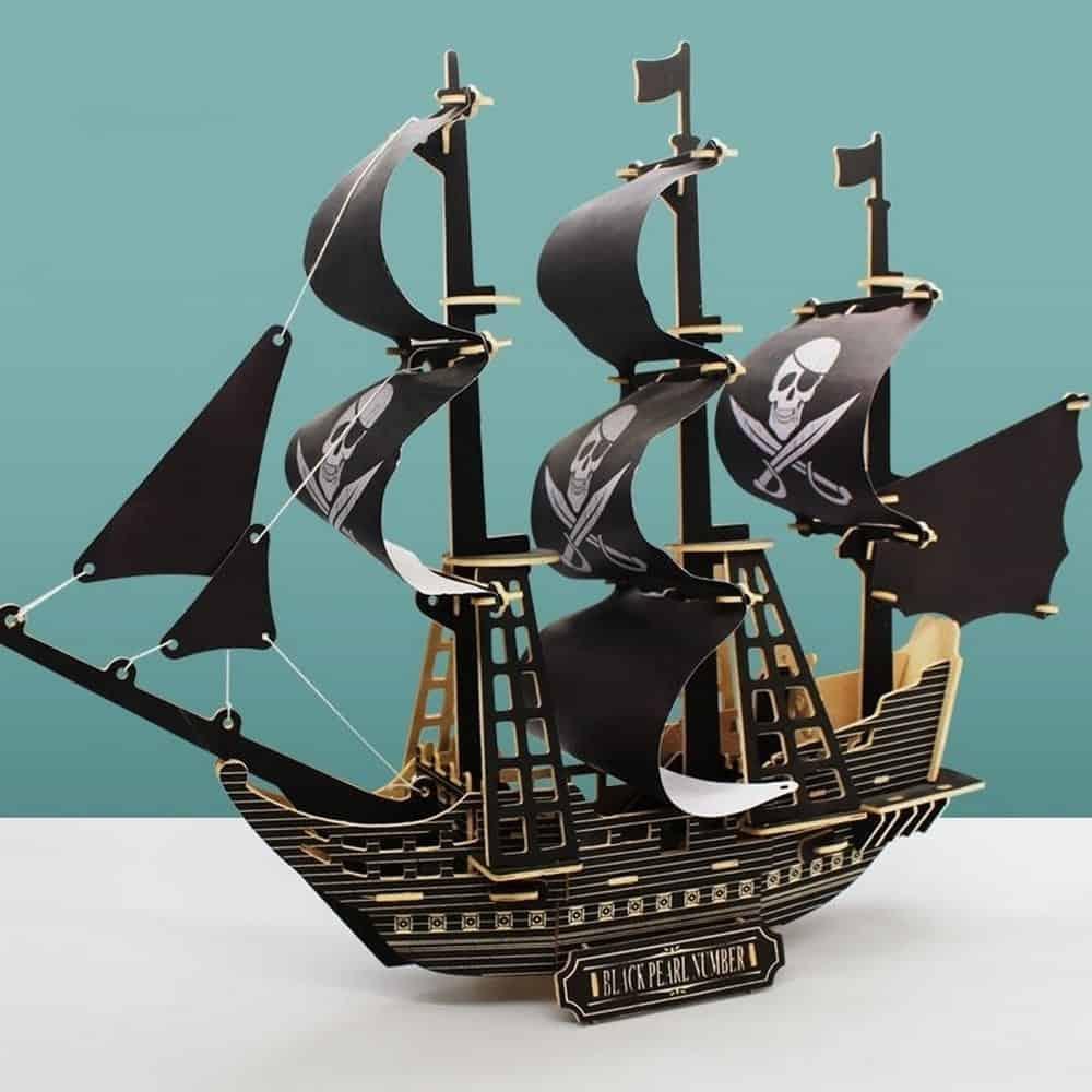 Đồ chơi xếp hình cao cấp tàu cướp biển 3D