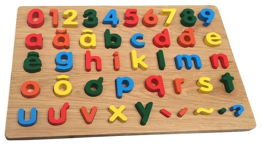 Đồ chơi lắp ghép giúp bé học chữ cái tiếng việt