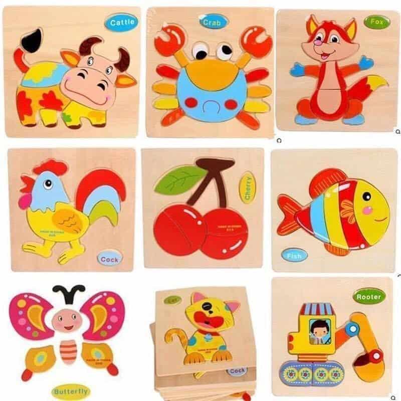 Bảng đồ chơi sáng tạo ghép gỗ hình con vật