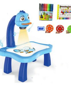 Bàn vẽ tích hợp máy chiếu thông minh màu xanh