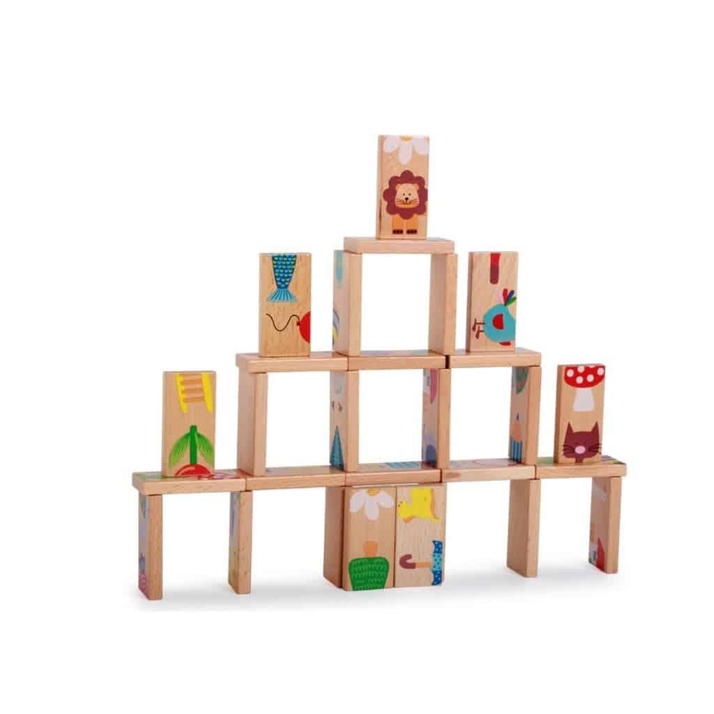 Đồ chơi sáng tạo xếp hình sáng tạo domino