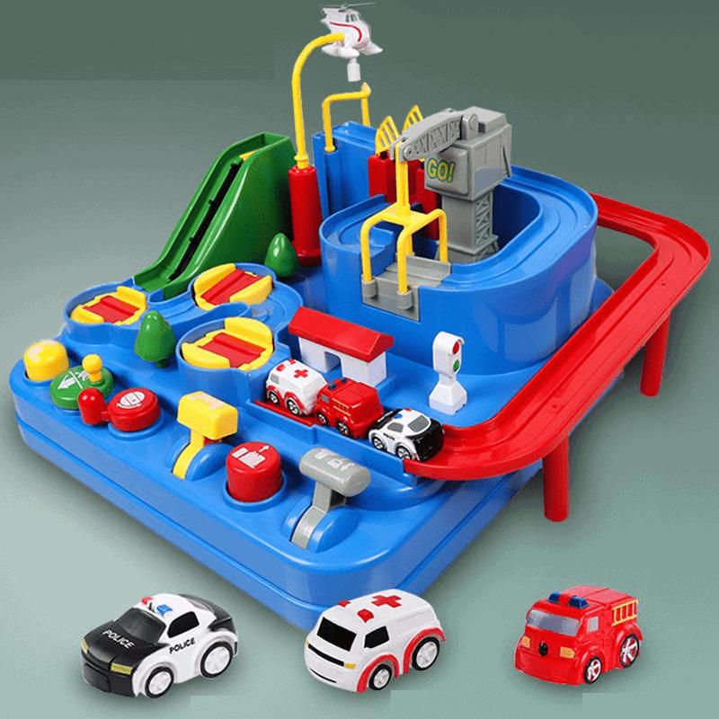 Đồ chơi trẻ em ô tô đường đua phiêu lưu