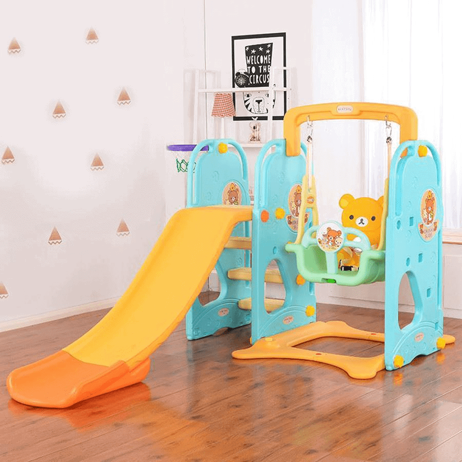 Bộ đồ chơi cao cấp cầu trượt, xích đu cho bé