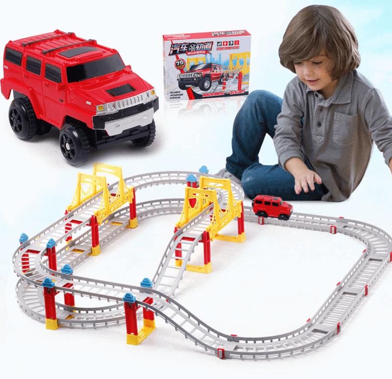 Đồ chơi thông minh cho bé 5 tuổi - Đồ chơi đường ray xe ô tô trượt