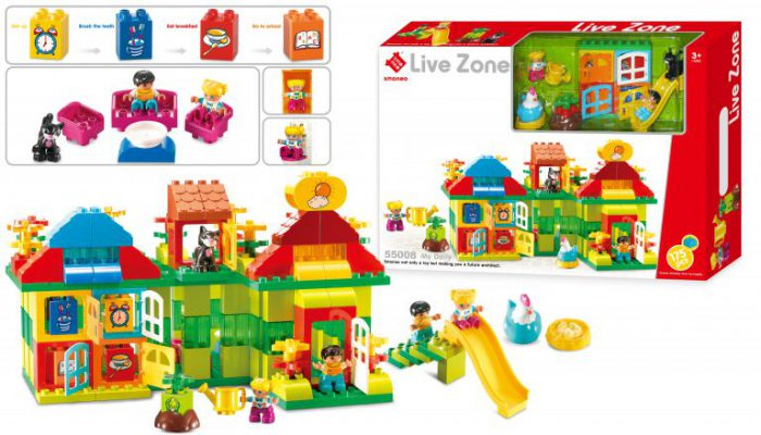 Bộ đồ chơi lắp ghép với 175 chi tiết cho bé tự do sáng tạo