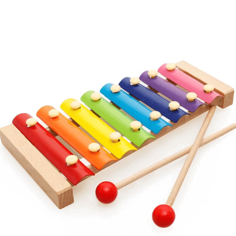 Đồ chơi đàn gỗ 12 thanh cực vui tai cho các con