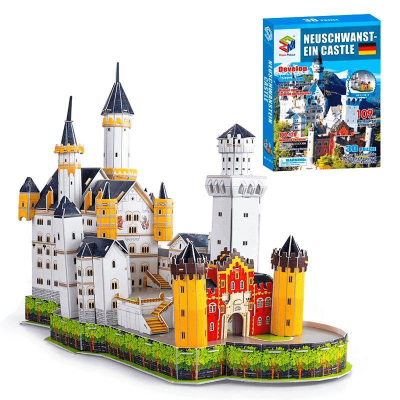 Đồ chơi mô hình cao cấp lâu đài giấy 3D