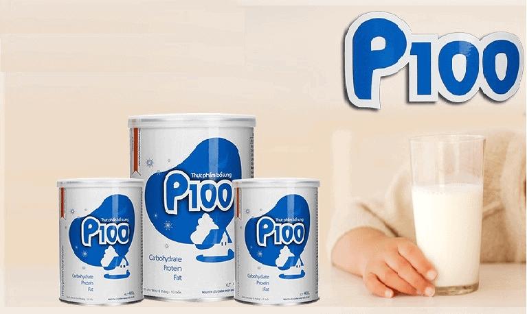 review sữa p100