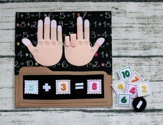Đồ chơi đếm số bằng tay tự làm