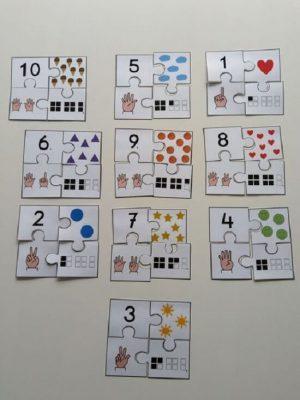 Trò chơi ghép hình với số