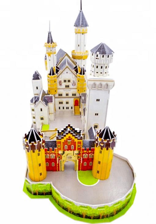 mô hình cao cấp lâu đài giấy 3D