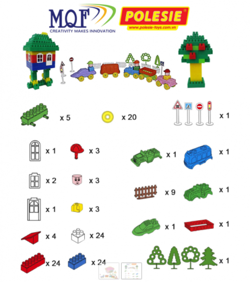 đồ chơi lắp lego ghép công viên