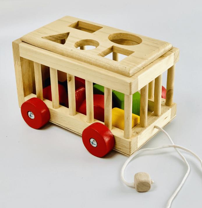 Đồ chơi xe thả khối gỗ