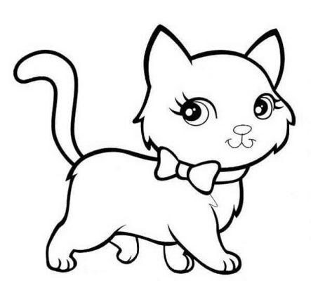 Tranh tô con mèo