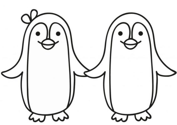 Tranh tô chim cánh cụt