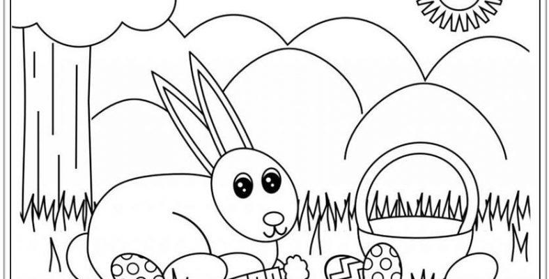 Tranh tô con thỏ đơn giản