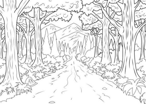 Tranh tô núi rừng