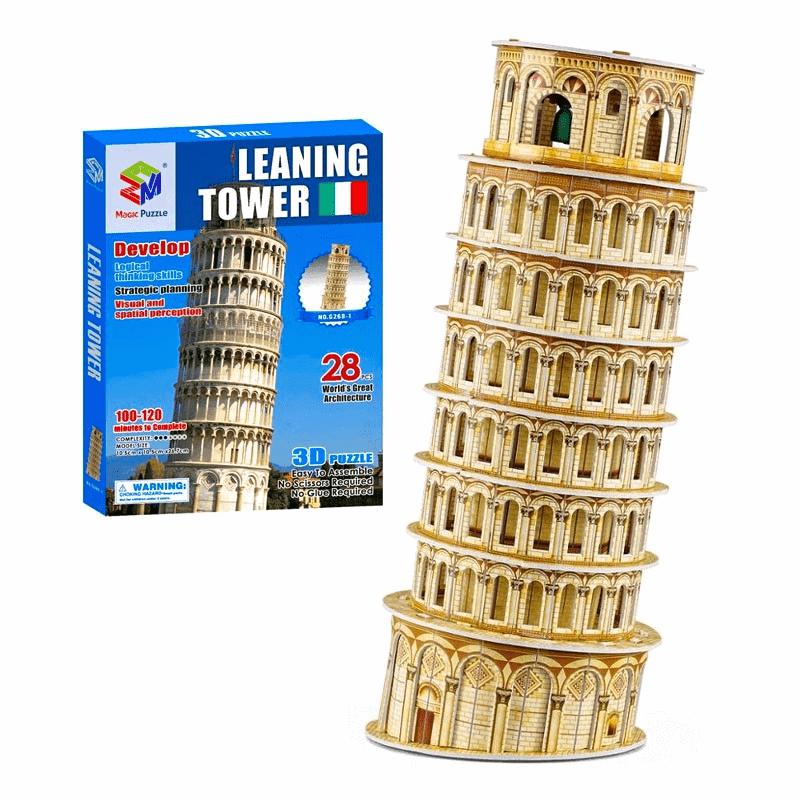 Mô hình giấy cứng tòa tháp 3D