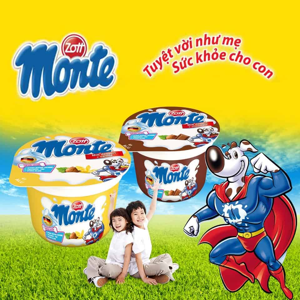 váng sữa Monte có tốt không