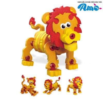 Bộ lắp rắp sư tử 3D với nhiều trạng thái dễ thương
