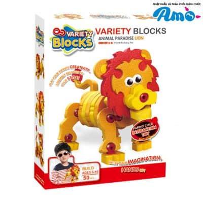 Bộ lắp rắp sư tử 3D dễ thương
