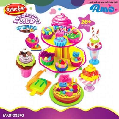 đồ chơi đất nặn bữa tiệc bánh ngọt cao cấp