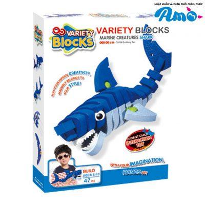 Bộ lắp rắp cá mập 3D