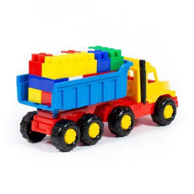 Xe Tải Kèm Bộ Lắp Ghép Lego Cho Bé